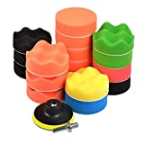 SHiZAK nueva 19pcs Sponge Depilación Pulido Buff Pads - Best Reviews Guide