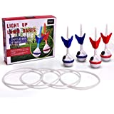 LED Lawn Darts Game-Glow In The Dark Game Set-Outdoor Family Game For Backyard