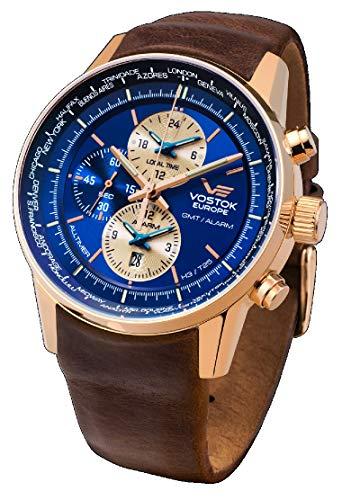 Vostok Europe Reloj los Hombres Limousine Alltimer Trigalights YM26-565B293