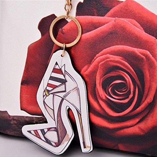 Borsa Diagonale Della Spalla Delle Signore Di Modo Di Stampa High-heeledShoes