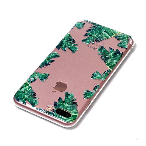 iPhone 7 Plus Hülle, Voguecase Silikon Schutzhülle / Case / Cover / Hülle / TPU Gel Skin für Apple iPhone 7 Plus/iPhone 8 Plus 5.5(Zitrone 06) + Gratis Universal Eingabestift Grüne Blätter 08