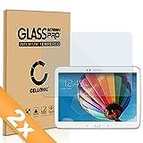 Cellonic 2X Panzerglasfolie kompatibel mit Samsung Galaxy Tab 3 10.1 (GT-P5200/GT-P5210/GT-P5220)(2.5D abgerundete Kanten,9H,0.33mm,Full Glue) Glas Transparent Displayschutz Schutzglas Tempered Glass