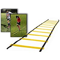 BATHWA Scala Agility Scale Rhythm Training Football Scale Training 10 fogli 5M con Trasporto Borsa Nera