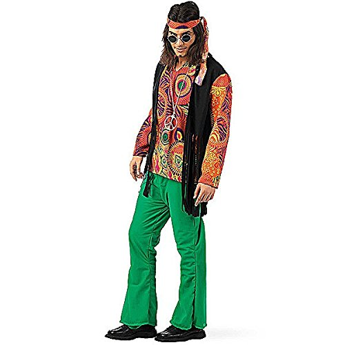 Limit Sport–Costume da hippy stampa per uomo, taglia L, ma592)