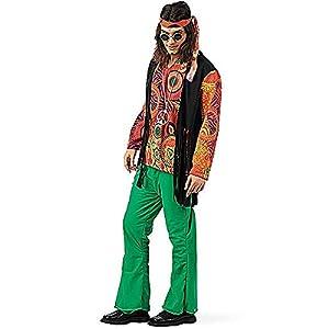Limit Sport - Disfraz de hippy estampado para hombre, talla L (MA592)