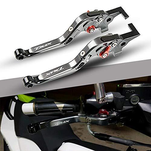 T MAX 530 500 Regolabile Leve Freno e Frizione Moto CNC Alluminio per Yamaha Tmax 530 500 2008 2009 2010 2011 2012 2013 2014 2015 2016 2017 2018-Titano+Titano+Nero+Rosso