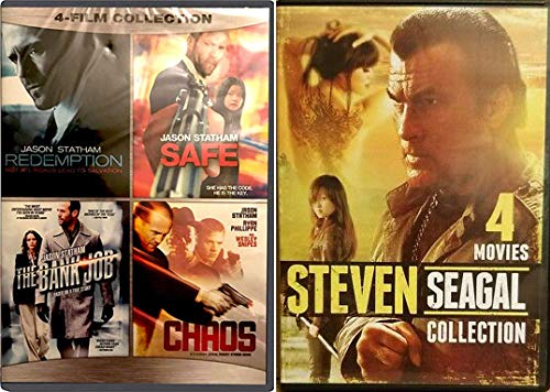 Modern Martial Arts Greats Jason Statham + Steven Seagal Bring The Heat 8 Movie Bundle Bank Job Redemption Kill Switch Driven To Kill