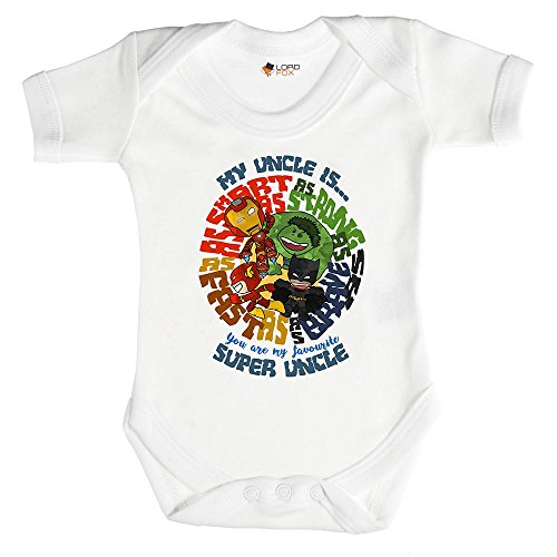 Superhéroe Marvel Babygrow de regalo de Uncle Body y gorro para bebé