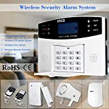 KKmoon LCD Wireless GSM SMS Home Burglar Security Alarm System Detector Sensor Kit Remote Control 433MHz; Mobile SMS GSM Autodial Home House Burglar Intruder Alarm