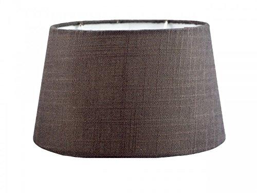Lampenschirm Taupe Grau Deko Textil Leinen Dunkel Greige