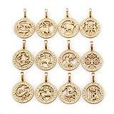 elegante Sternzeichen Kette Gold 18K echt vergoldet Luxus Schmuck Callissi Kette ca. 45 cm (Löwe)