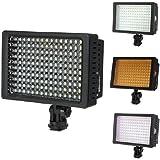 HD 160 LED 660LM Video Lampe Eclairage Photo 3 Filtres pour Canon Camera Camescope