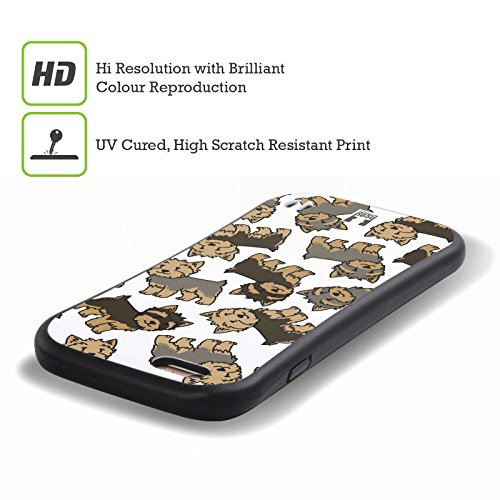 Head Case Designs Cavalier King Charles Spaniels Hunderasse Muster 3 Hybrid Hülle für Apple iPhone 6 / 6s Yorkshire Terrier