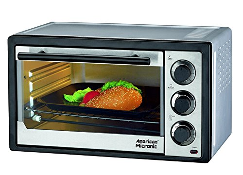 American Micronic - 15 Liters Imported Oven Toaster Griller (otg), 230v Ac, 1300w, 60 Minutes Timer, Variable Temperature Control. Free Baking Tray, Wire Rack- Ami-otg-15ldx