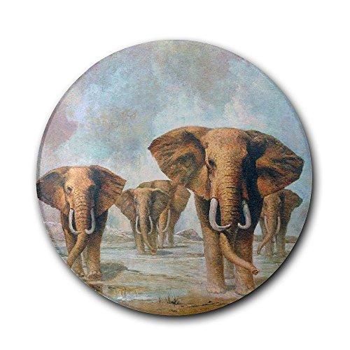 VMJUKOP Posavasos Redondo de cerámica con diseño de Elefantes
