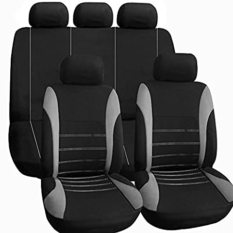 KKmoon Siège Auto Housse Auto Accessoires Intérieurs Style Universel Voiture Gris