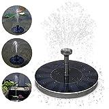 DZW Solar-Power-Brunnen, 1.4W Free Standing Solar Brunnen Wasserpumpen Panel Kit Für Verschiedene Wasserdurchfluss, Outdoor Birdbath Bewässerung Tauchpumpe Für Garten und Terrasse