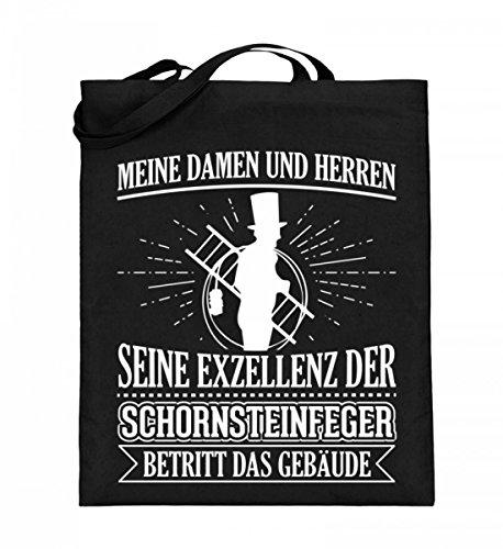 Hochwertiger Jutebeutel (mit langen Henkeln) - Ideal für jeden Schornsteinfeger!
