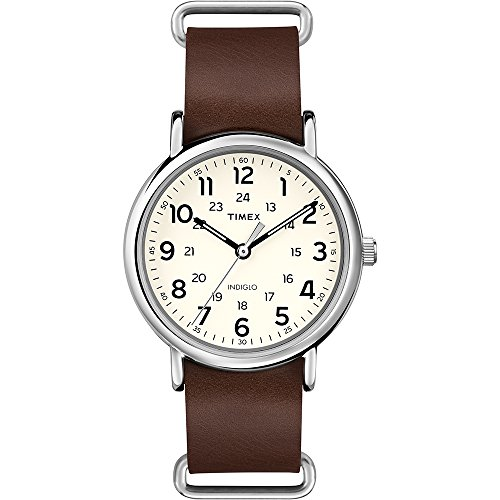 timex-unisex-t2p495-quartz-watch-with-yellow-dial-analogue-display-and-brown-leather-strap