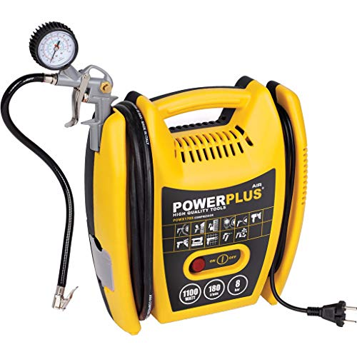 Varo POWX1705 - Compressore portatile, 1100 Watt, PS 1,5, 8 bar max,...