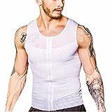 iiniim Camiseta De Hombre Con Faja Elástica Chaleco Quemagrasas Adelgazante Camiseta Deportivo Para Hombre Blanco XL