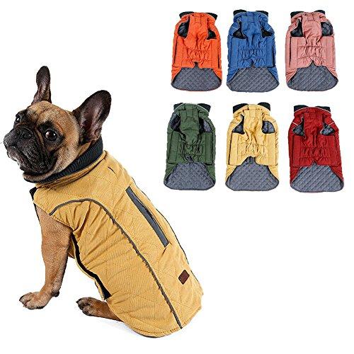 Harley Davidson Hund Kleidung (Outgoings kalter Hund Streicheln Mantel Jacke Weste warm Outfit Kleider für Kleine bis mittlere große Hunde Haustier Hunde Kleider)