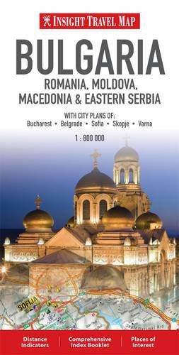 Insight Travel Maps: Bulgaria, Romania, Moldova, Macedonia & Eastern Serbia por Geographic