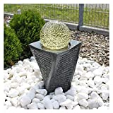 CLGarden Granit Springbrunnen SB17 mit drehender Kugel LED Beleuchtung Wasserspiel