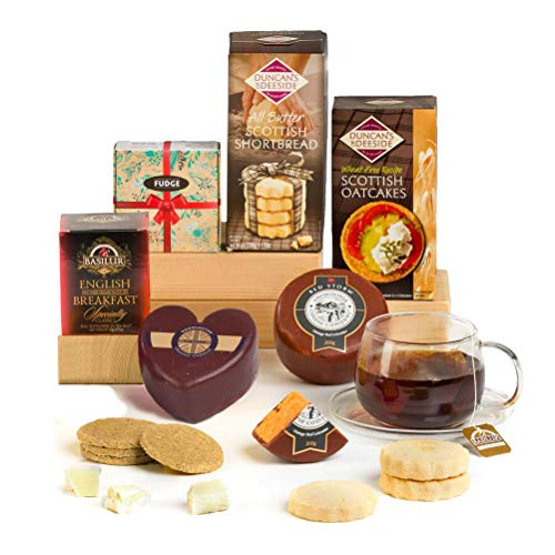 Hay Hampers Best of British Cheese & Treats Hamper Box - Free UK Delivery
