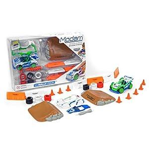 MODARRI 1106-01 - Kit de Montaje para Coche con Accesorios para Carretera, Color Verde y Azul