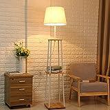Floor DL stehlampe Stehlampe, moderne weiße Schlafzimmer Bett vertikale Rack Stehleuchte Wohnzimmer Holz, Eisen Sofa, Couchtisch Stehleuchte Größe: 30 * 30 * 170cm Standleuchten