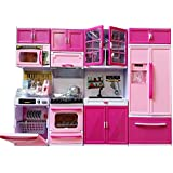 Magnifico Dream House Kids Luxury Battery Operated Kitchen Super Set With Light & Sound Carry Case (4 Pcs)