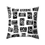 dragonaur – Bedruckter Kissenbezug mit modernem Kamera-Motiv, Deko für Wohnzimmer, Sofa oder Bett, 8#, M