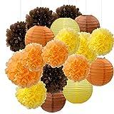 Decorazioni di festa di fiocco di Furuix, decorazioni di autunno, pacchetto del partito, corredo di partito arancione, decorazioni del partito di ringraziamento / decorazioni del partito di compleanno