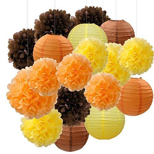 Furuix Fall Party Dekorationen, Herbst Dekorationen, Party Paket, Orange Party Kit, Thanksgiving Party Dekorationen / Geburtstagsfeier Dekorationen