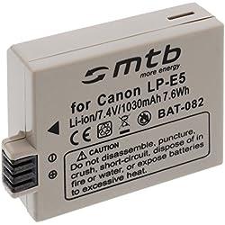 Batterie LP-E5 pour Canon EOS 450D, 500D, 1000D, Rebel T1i, Rebel XS, Rebel Xsi