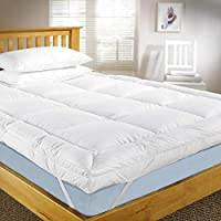 Mattress Topper 180x200cm, 500GSM with Microfiber Outer, White