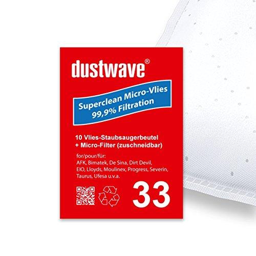 Sparpack - 10 Staubsaugerbeutel geeignet für Clatronic - BS 1272 / BS1272 Staubsauger - dustwave® Markenstaubbeutel / Made in Germany + inkl. Micro-Filter