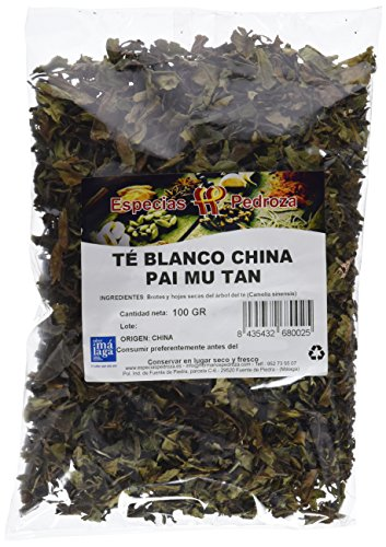Especias Pedroza Té Blanco China Pai Mu Tan - 5 Paquetes de...