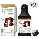 EcoDescalk Concentré 2x9 détartrages.Détartrant Liquide pour Machines à...