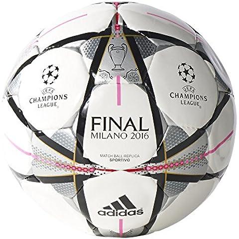 adidas Final Milano Sport - Balón para hombre, color blanco / negro, talla 5
