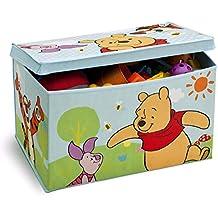 Delta Children - TB84987WP - Winnie l'Ourson - Coffre à Jouets en Tissu