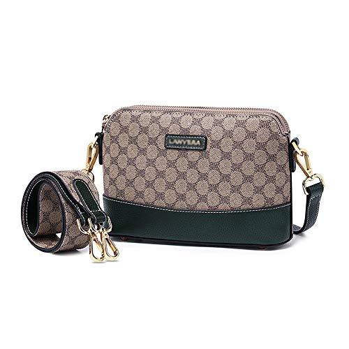 MIMI KING Frauen Messenger Bag Kleine Geldbörse Crossbody Mode Muster Umhängetasche Mini Casual Handtasche,Grün