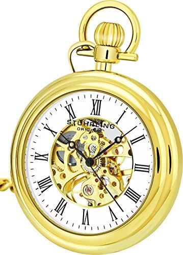 Stuhrling Original Herren Uhr Analog Mechanik mit Edelstahl Armband 6053Z.33333