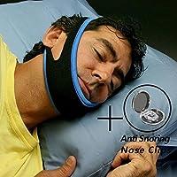 [asequible combinación] CAMAC correa de barbilla bucal antirronquidos Snore cinturón anti ronquidos mandíbula apoyo sueño, anti ronquidos nariz Clips, anti ronquidos dispositivos