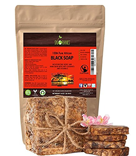 organic-african-black-soap-454g-block-raw-organic-soap-ideal-for-acne-eczema-dry-skin-psoriasis-scar