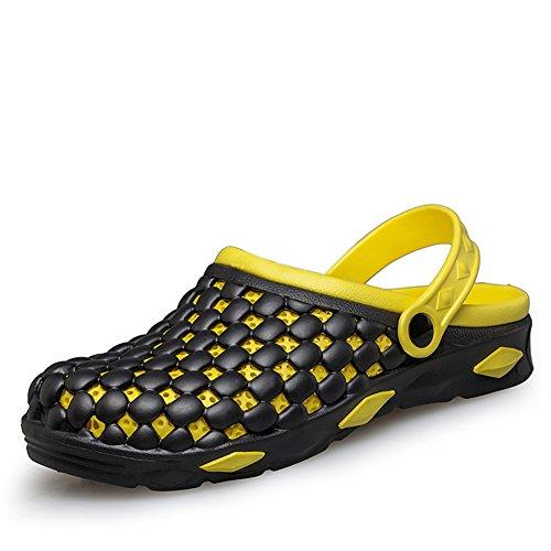 Mode-Löcher im Sommer Hausschuhe/Rutschfeste atmungsaktive Fuß Strand Hausschuhe Gelb
