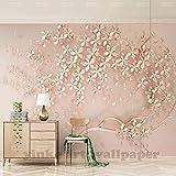 Elegantes 3D Stereo Rose Gold 3D für Wohnzimmer TV Hintergrund