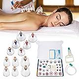Masaje Ventosa 12 Copa de Vacio Anticelulitico Spa Ahuecamiento masajeador vacio de cuerpo espalda cuello músculos para Alivio dolor de Recuperación de Lesión Tonificación Cuidado de Belleza