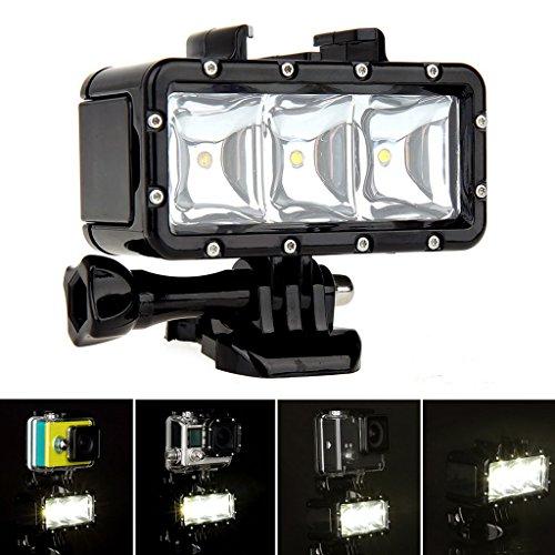 Baoblaze Unterwasser-wasserdichte Tauchen Spot Light LED Halterung Für SJ4000 Action Kamera Electronic-light-action-kit